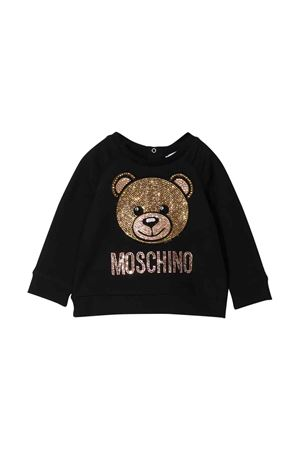 Black Moschino kids sweatshirt  MOSCHINO KIDS | -108764232 | MDF01RLDA2060100
