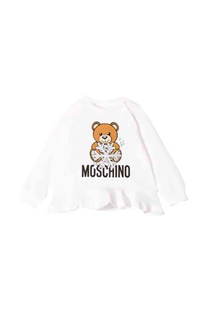 Moschino kids white sweatshirt  MOSCHINO KIDS | -108764232 | MDF01SLDA1410063