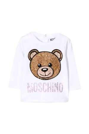 Moschino kids white t-shirt  MOSCHINO KIDS | 8 | MDM02ILBA1410101
