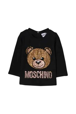 Moschino kids black sweater  MOSCHINO KIDS | 8 | MDM02ILBA1460100