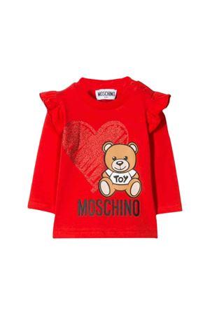 Red Moschino kids long sleeved sweater  MOSCHINO KIDS | 8 | MDM02KLBA1150109