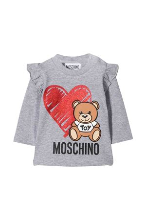 Gray Moschino kids long sleeved sweater  MOSCHINO KIDS | 8 | MDM02KLBA1160901