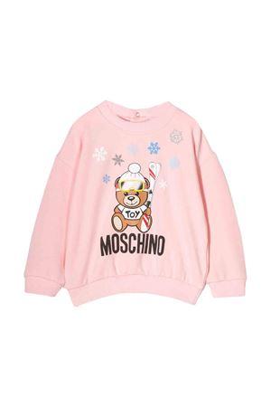 Pink Moschino kids newborn sweatshirt MOSCHINO KIDS | -108764232 | MMF02ZLDA1450209