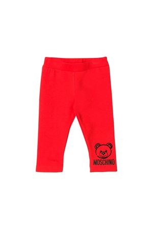 RED MOSCHINO KIDS TROUSERS  MOSCHINO KIDS | 1239780619 | MMP02RLDA1750109