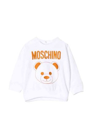 Felpa bianca Moschino kids MOSCHINO KIDS | -108764232 | MNF02ZLDA1610101