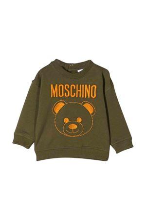 Moschino kids khaki green sweatshirt  MOSCHINO KIDS | -108764232 | MNF02ZLDA1630791