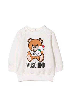 Newborn Moschino kids white sweatshirt MOSCHINO KIDS | -108764232 | MOF02NLDA1410063