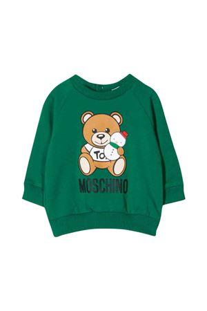 Moschino kids green sweatshirt  MOSCHINO KIDS | -108764232 | MOF02NLDA1430242