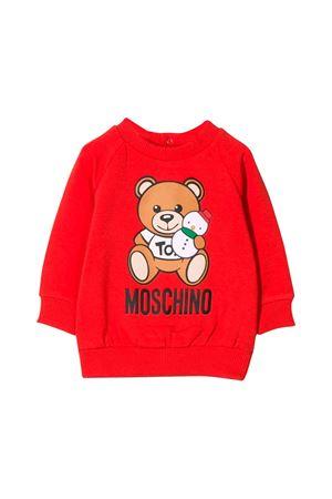 Newborn Moschino kids red sweatshirt  MOSCHINO KIDS | -108764232 | MOF02NLDA1450109