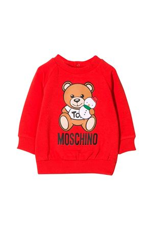 Felpa rossa neonato Moschino kids MOSCHINO KIDS | -108764232 | MOF02NLDA1450109