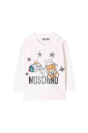 T-shirt bianca Moschino kids MOSCHINO KIDS | 8 | MOM01VLBA1210063