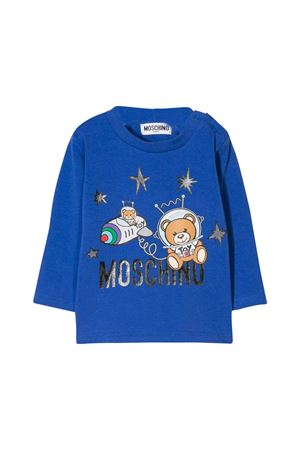 Blue Moschino kids t-shirt MOSCHINO KIDS | 8 | MOM01VLBA1240295