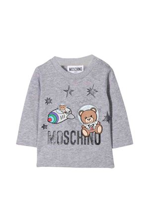T-shirt grigia Moschino kids MOSCHINO KIDS | 8 | MOM01VLBA1260901