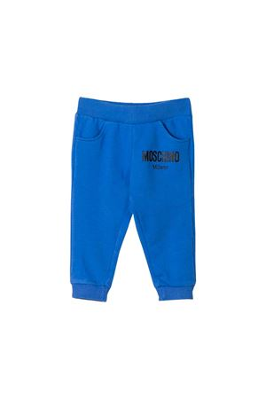 BLUE JOGGING PANTS MOSCHINO KIDS  MOSCHINO KIDS | 9 | MOP023LDA1540295