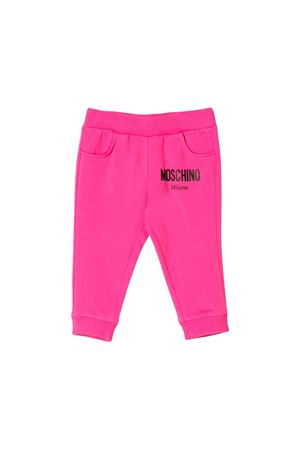 Fuchsia jogging pants girl moschino kids MOSCHINO KIDS | 9 | MOP023LDA1550323