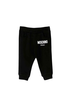 BLACK JOGGING PANTS MOSCHINO KIDS  MOSCHINO KIDS | 9 | MOP023LDA1560100