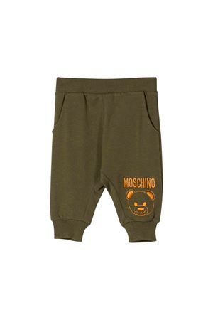 Khaki green jogging pants Moschino kids  MOSCHINO KIDS | 9 | MOP02ILDA1630791