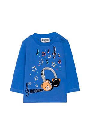 BLUE T-SHIRT MOSCHINO KIDS MOSCHINO KIDS | 8 | MPM01VLBA1240295