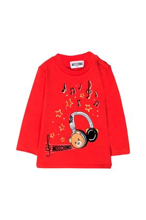 RED T-SHIRT MOSCHINO KIDS  MOSCHINO KIDS | 8 | MPM01VLBA1250109