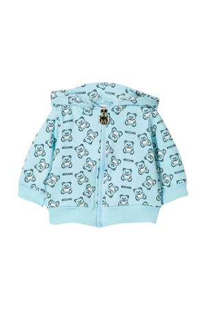 Moschino kids light blue sweatshirt  MOSCHINO KIDS | 5032280 | MQF00QLDB2384905