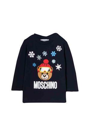 Moschino kids blue navy T-shirt  MOSCHINO KIDS | 8 | MRM01VLBA1140016