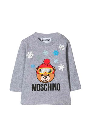 Moschino kids gray long sleeve t-shirt  MOSCHINO KIDS | 8 | MRM01VLBA1160901