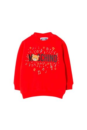 RED SWEATSHIRTMOSCHINO KIDS MOSCHINO KIDS | -108764232 | MSF02PLDA1750109