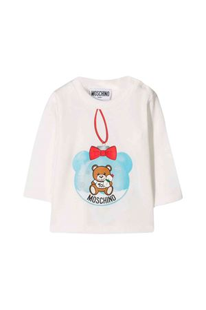 Moschino kids white long-sleeved T-shirt  MOSCHINO KIDS | 8 | MSM01VLBA1110063