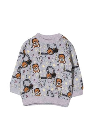 Gray Moschino kids newborn sweatshirt  MOSCHINO KIDS | -108764232 | MTF02PLDB2183227