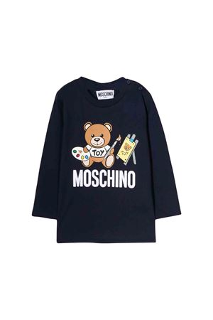 T-shirt Blue navy Moschino kids MOSCHINO KIDS | 8 | MTM01VLAA1040016