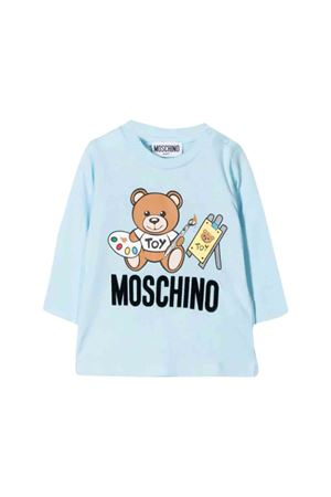 T-shirt azzurra Moschino kids MOSCHINO KIDS | 8 | MTM01VLAA1040304