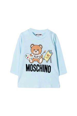 Light blue Moschino kids t-shirt  MOSCHINO KIDS | 8 | MTM01VLAA1040304