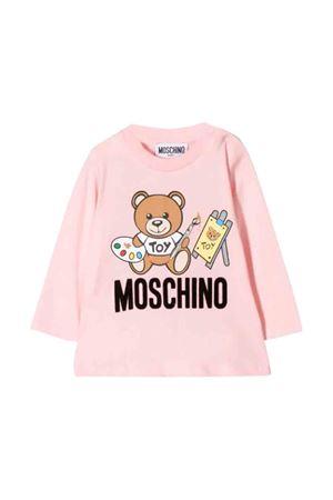 Pink Moschino kids newborn T-shirt  MOSCHINO KIDS | 8 | MTM01VLAA1050209