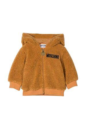 Brown Moschino kids newborn sweatshirt  MOSCHINO KIDS | 5032280 | MUF02VLIA0020093