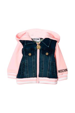 Pink Moschino kids girl sweatshirt  MOSCHINO KIDS | 5032280 | MUF02XLDE0450209