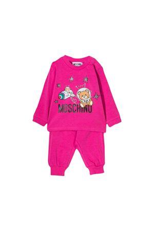 Fuchsia jumpsuit Moschino kids  MOSCHINO KIDS | 75988882 | MUK02CLBA1250323