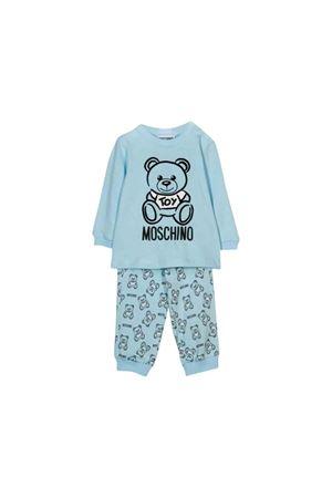 Tuta azzurra Moschino kids MOSCHINO KIDS | 75988882 | MUK02FLAB1340304