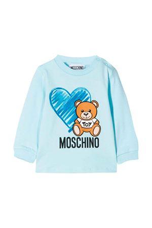 Light blue Moschino kids sweatshirt  MOSCHINO KIDS | 8 | MUM024LBA1140304