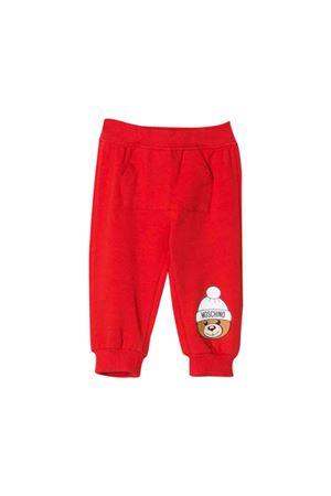 Red jogging pants Moschino kids MOSCHINO KIDS | 9 | MUP036LDA1450109