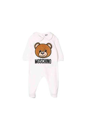 Newborn white Moschino kids baby suit  MOSCHINO KIDS | 5032327 | MUY02ALGA0410063