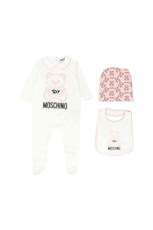 Moschino kids white newborn set  MOSCHINO KIDS | -202268645 | MUY02DLDA1750209