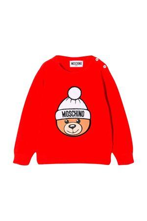 Moschino kids red sweatshirt  MOSCHINO KIDS | 7 | MVW00HLHE0950109