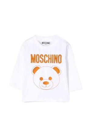 White t-shirt with orange frontal press Moschino kids MOSCHINO KIDS | 8 | MZM01VLBA1110101