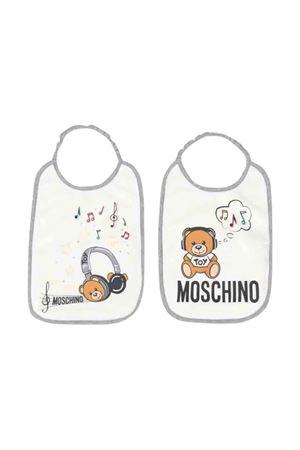 White Bib set with toy print Moschino kids MOSCHINO KIDS | -546332730 | MZY012LBA1210063