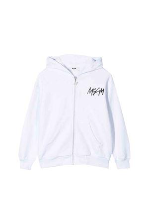 MSGM white kids teen sweatshirt  MSGM KIDS | 13 | 020247001T