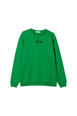 GREEN SWEATSHIRT MSGM KIDS TEEN  MSGM KIDS | 1169408113 | 020248080T