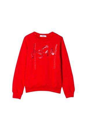 Red MSGM kids sweatshirt  MSGM KIDS | 1169408113 | 020270040