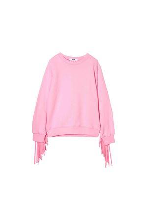 MSGM kids pink sweatshirt  MSGM KIDS | 1169408113 | 020289042