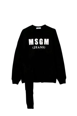 MSGM BLACK KIDS TEEN SWEATSHIRT  MSGM KIDS | 1169408113 | 020292110T