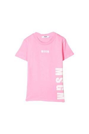 PINK GIRL T-SHIRT MSGM KIDS  MSGM KIDS | 8 | 020296042
